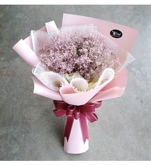 Pink Baby Breath Hand Bouquet