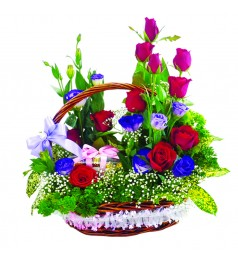 Flower Basket with Ferrero Rocher