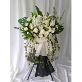 Condolence Wreath and Stand